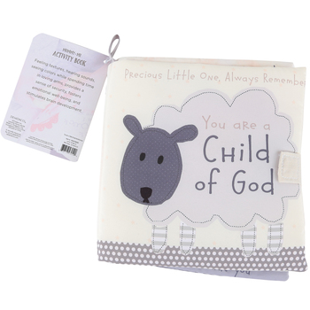 Demdaco, You Are a Child of God Plush Activity Book, Plush, 7 inches
