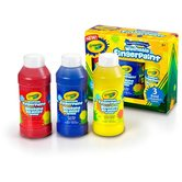 Crayola, Washable Fingerpaints, Primary Colors, Red, Yellow and Blue
