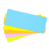 Blank Flashcards, Bright Multi-Colored, Five Colors, 3 x 7.50 Inches, Pack of 100