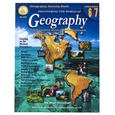 Carson-Dellosa, Discovering the World of Geography Resource Book, Reproducible, 126 Pages, Grades 6-7