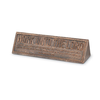 Lighthouse Christian, Matthew 19:26 All Things Are Possible Desktop Plaque, Copper, 6 1/2 x 2 x 2 1/4   inches
