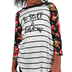 NOTW, Be Still and Know Floral, Kid's Raglan Sleeve T-shirt, Black and White, X-Small