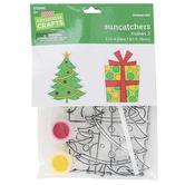 Brother Sister Design Studio, Christmas Crafts, Christmas Tree & Gift Suncatcher Craft Kit, Makes 2