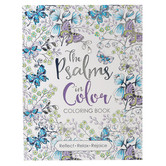Christian Art Gifts, The Psalms in Color Coloring Book for Adults, 56 Designs