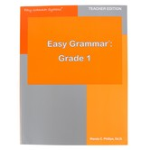 Easy Grammar Grade 1 Teacher Book, Paperback, Grade 1