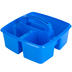 Storex, Small Caddy, Blue,  3 Compartments, Plastic, 9.25 x 9.25 x 5.25 Inches, 1 Piece