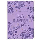 Barbour, 2022 Planner Daily Encouragement for Women, Imitation Leather, Purple, 5 1/2 x 7 3/4 inches