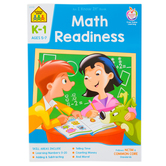 School Zone, Math Readiness Deluxe Edition Workbook, Paperback, 64 Pages, Grades K-1