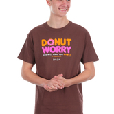 Kerusso, 1 Thessalonians 5:23 Donut Worry, Men's Short Sleeve T-shirt, Chocolate, S-3XL