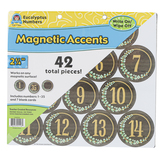 Teacher Created Resources, Eucalyptus Magnetic Circle Numbers, 2 1/4 Inches, 42 Pieces