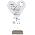 Adams & Co., A Piece of My Heart Lives In Heaven Tabletop Plaque, Wood, 6 x 11 x 1 1/2 inches