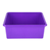 Storex, Deep Storage Tray With Clear Lid, Letter Size, Purple, Plastic, 13 x 10.5 x 5 Inches, 2 Pieces