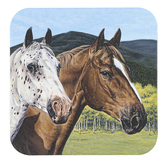 Legacy Publishing Group, Two Horses Coaster, 3 3/4 inches