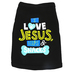 Paws & Praise, I Love Jesus Naps and Snacks, Dog T-Shirt, Black, Large