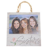 P. Graham Dunn, Sisters Floral Photo Frame, Holds 4 x 6 inch Photo, Wood, 7 x 7 inches