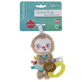Infantino, Sloth Chime & Go Tag Along Pal, 3 x 7 1/2 inches