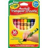 Crayola, Washable Triangular Crayons, 16 Count
