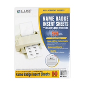 C-Line, Name Badge Inserts, 56 count