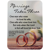 Christian Brands, Marriage Takes Three Pocket Card, Multi-Colored, 2 1/2 x 3 1/2 Inches