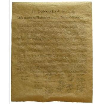 Garden Spot Gifts, American Declaration of Independence Document, 22.5 x 29 Inches, 1 Piece