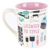 Enesco, Our Name Is Mud, Stylist: Licensed To Style Coffee Mug, Stoneware, 16 ounces