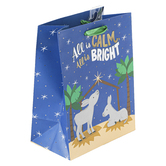 Renewing Faith, All Is Calm All Is Bright Small Gift Bag, 8 1/2 x 6 1/2 x 4 inches