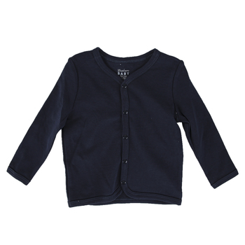 Stephan Baby, Cardigan for Babies, Cotton & Spandex, Navy, 6-12 Months