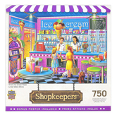 MasterPieces, Shopkeepers Anna's Ice Cream Parlor Jigsaw Puzzle, 750 pieces, 18 x 24 inches