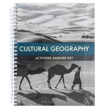 BJU Press, Cultural Geography Activities Answer Key, 5th Edition, Paperback, 208 Pages, Grade 9
