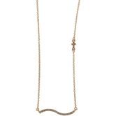 Modern Grace, Psalm 61:2 Rhinestone Wave Bar Necklace, Zinc Alloy, Gold, 20 inches