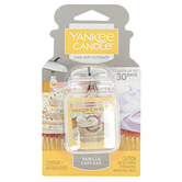 Yankee Candle, Vanilla Cupcake Car Jar Ultimate, Yellow, 3 x 5 1/2 inches