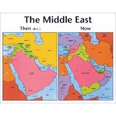 Middle East: Then and Now, by Rose Publishing, Wall Chart