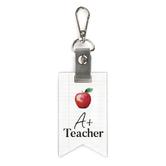 P. Graham Dunn, A Plus Teacher Key Chain, Wood, 2 x 3 1/2 inches