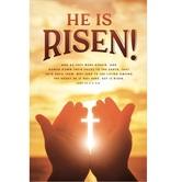Salt & Light, Luke 24:5-6 He Is Risen Easter Church Bulletins, 8 1/2 x 11 inches Flat, 100 Count