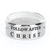 Spirit & Truth, 1 Timothy 6:11, Man Of God Guardian, Men's Ring, Stainless Steel, Silver, Size 10