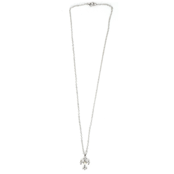 Collectables America, Cross Necklace with Center Pearl, Rhodium and Pearl, 16 inches