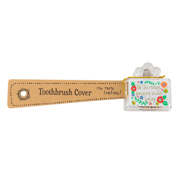 Natural Life, Be The Reason Toothbrush Cover, Plastic, 1 3/4 x 1 3/4 x 3/4 inches