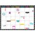 Teacher Created Resources, Clingy Thingies Chalkboard Brights Wipe-Off Calendar, 17 x 22 Inches