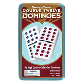 Pressman Toys, Family Classics Double Twelve Dominoes, 91 Pieces, Ages 5 and Older, 2 to 7 Players