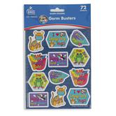 Carson-Dellosa, One World Germ Busters Shape Stickers, Multi-Colored, 72 Stickers