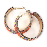 Radiant Sol, Multicolor Hoop Earrings, Iron and Nylon, Assorted Colors
