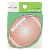 Renewing Minds, Football Mini Notepad, 4.5 x 4.5 inches, 36 Sheets