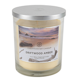Chesapeake Bay, Driftwood Amber Dual Wick Jar Candle, Light Blue, 16 ounces
