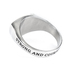 Spirit & Truth, Joshua 1:9, Strong and Courageous Shield Cross, Men's Ring, Stainless Steel, Size 10