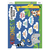 Renewing Minds, Kindness Classroom Rules Chart, Multi-colored, 17 x 22 Inches, 1 Each, Grades PreK-3
