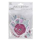 the Paper Studio, Stickabilities, Watercolor Flower Stickers, 3 Each of 8 Designs