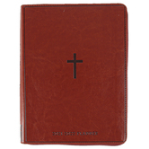 Renewing Faith, Exodus 15:2 The Lord Is My Strength Cross Deluxe Planner, Brown, 7 x 9 inches