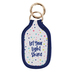 Mary Square, Let Your Light Shine Bottle Pocket Keyring, Neoprene, Multi-Colored, 4 1/4 x 2 1/2 inches