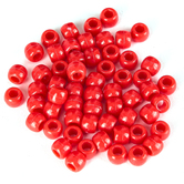 Tree House Studio, Pony Beads Value Pack, Plastic, Red, 6mm x 8mm, 500 Pieces