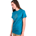 Red Letter 9, Rhinestone Cross Burst, Women's Short Sleeve T-Shirt, Teal, Small
